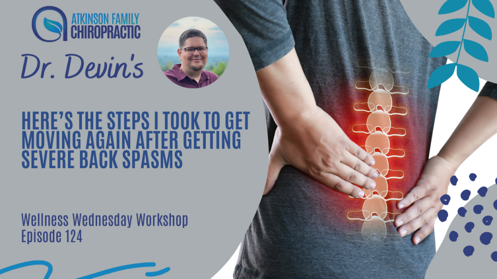 Here's the steps I took to get moving again after getting severe back spasms